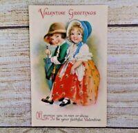 Antique Ellen Clapsaddle Faithful Valentine Postcard Post Card Rain or Shine 452