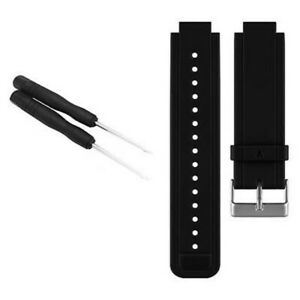 Black Watch Replacement Sport Silicone Band Strap Tool For Garmin Vivoactive