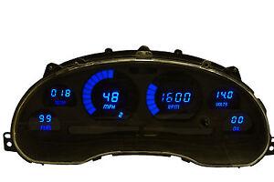 1994-2004 Ford Mustang Digital Dash Panel Blue LED Gauges Lifetime Warranty