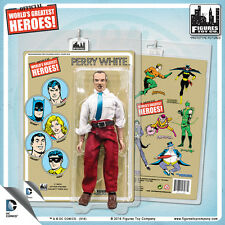 Official DC Comics Perry White 8 inch Action Figure on Retro Style Retro Card