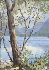 "Original  painting ''Across Lake Padarn, N Wales""  Ready for a 14 x11""  frame"