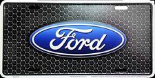 Ford Logo Honeycomb Premium Embossed Metal Novelty License Plate