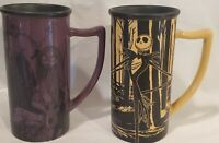 Disney Mugs Jack Nightmare Before Christmas Skellington & Sally 2 Mugs