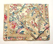 Ralph Lauren TANGIER Set of 2 King Size Pillow Cases Shams Floral Tropical Twine