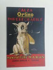 Cartolina Pubblicitaria Calza Orlino Manifatture Torino pubblicità cane