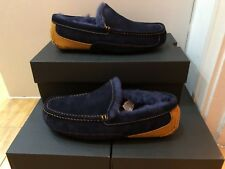 UGG Mens ASCOT Suede Slippers in Navy / Chestnut UK10