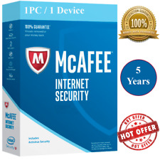 McAfee Internet Security Antivirus  5 Years🔑 1 Device 🔥 Windows, Mac & Android