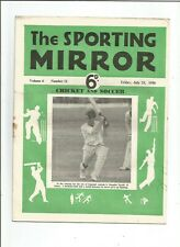 Sporting Mirror Cricket Edition for July 21st 1950- Insole/Yorkshire Team