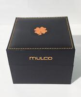 Mulco Original Genuine Black Watch Display Box Case Cushion Pillow & Booklet