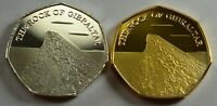 2 x THE ROCK OF GIBRALTAR Silver & Gold Commemoratives. Album/Filler/Collector