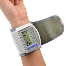 Portable Personal LCD Digital Wrist Cuff Blood Pressure Monitor Heart Beat Meter