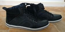 Steve Madden,100%Leather Sport Shoes,Sneakers,Trainers,Black,Size 6.5
