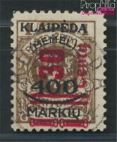 Memelgebiet 232I geprüft gestempelt 1923 Aufdruckausgabe (8984773