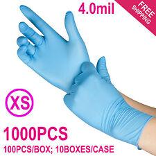 1000/Case Disposable Powder-Free Nitrile Medical Exam (Latex Free) Gloves --XS