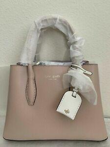 NWT Kate Spade Eva Small Satchel Pebble Leather Bag $329 Wrmbe/Blsh Original Pac