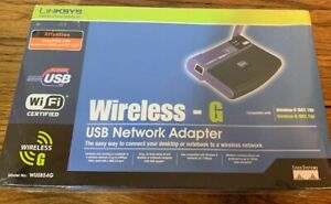 NEW Linksys Cisco Wireless-G USB Network Adapter WUSB54G 2.4 GHz 802.11g