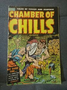 Chamber of Chills 23 (#3) (10/51) Excessive violence. Eyes torn out. VG