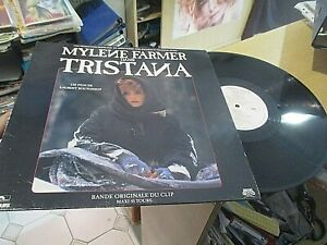 mylene farmer  maxi 45t original TRISTANA B O  DU CLIP