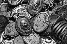 HUGE Silver Plated Padre Pio Italian Catholic 100 Medal Lot FREE SHIPPING in USA