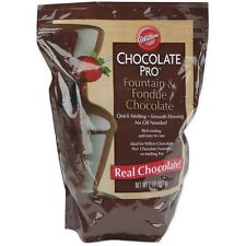 Wilton W2618 Chocolate Pro Fountain & Fondue Wafers 2lb Chocolate NEW