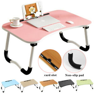 Laptop Stand Cooling Holder Desk Table Tray Folding Desk Bed Sofa Computer Table