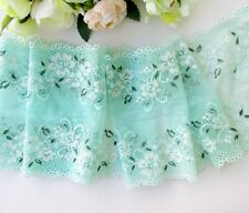16.5 cm width Pretty Light Sea Green Stretch Lace Trim