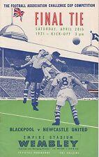 Football Programme Cover Reprints (D) Blackpool v Newcastle U F.A.Cup Final 1951