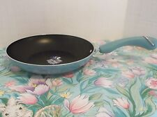 "PAULA DEEN 10"" PAN~ ""AQUA"" BLUE SPECKLE~NEW SKILLET"