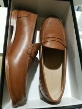 NEW J.Crew Women's Ryan Penny Loafers Burnished Pecan Leather Slip On Shoes 10