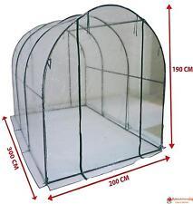Serra a tunnel da giardino copertura per orto piante e fiori 200x300h190