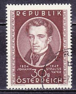 AUSTRIA used 1949 SC# Nr 561  Johann Strauss - The Elder - Composer