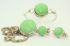 VARISCITE FOUR PIECE JEWELRY SET SOLID .925 STERLING SILVER 72.2 g