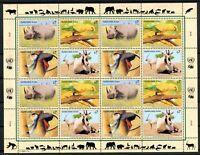 UNO Wien ZD-Bogen MiNr. 180-83 postfrisch MNH gefährdete Tierarten (Z2353