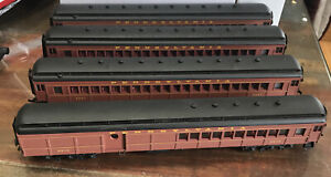Spectrum HO ~ Pennsylvania Railroad Pullman Passenger Cars (Set of 4) Bachmann