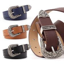 Women Waist Belt Ladies Leather Western Cowgirl Waistband One Metal Buckle belt