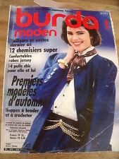 MAGAZINE BURDA MODEN  TAILLEURS ET VESTES DERNIER CRI   08/1986