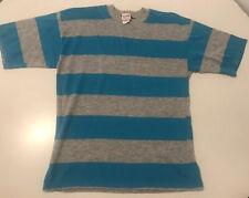 Vintage 70's Board Striped Skate Surf T Shirt Size M Nos