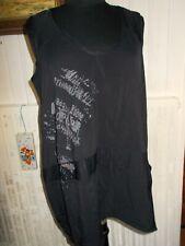 Robe courte tunique longue polyamide noir stretch LAUREN VIDAL 44/46 Imprimé
