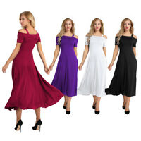 Women's Long Boho Evening Formal Cocktail Party Ball Gown Bridesmaid Maxi Dress