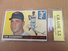 1955 Topps Ted Kluszwski #120 Graded by ArrowGrade.com 5.5