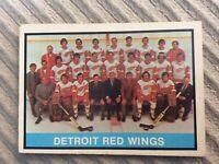 1974-75 O PEE CHEE  OPC  # 267 DETROIT RED WINGS TEAM UNMKD. C/L  NR-MINT R145
