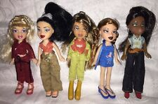 Lot Of 5 Lil Bratz Dolls Meygan Yasmin Jade Sasha Cloe With Clothes & Shoes