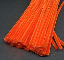 50 x Jumbo Premium Craft Pipe Cleaners Chenille tiges 300 mm x 6 mm-Orange