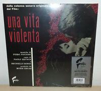 UNA VITA VIOLENTA - PIERO PICCIONI - NUMBERED - RED SPLATTER - LP