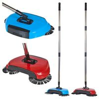 Easy Sweeper Broom Double Rotating Sweeping Action Hand-Propelled No Batteries