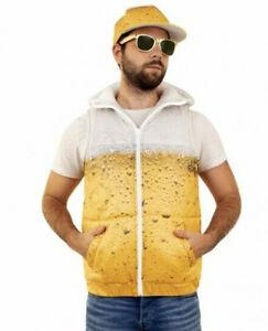 ★ Pils Bier Warmes Bodywärmer Steppweste Jacke Outdoor Kostüm, XS-XXL + Basecap