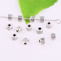 Wholesale 50/500pcs Antique Silver Metal Spacer Loose Beads DIY Jewelry Making