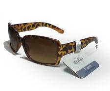 women sunglasses tortoise brown rectangular wrap 35 studio UV protection