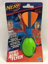 New Nerf Sports Pocket Size Aero Flyer Football Green, Ships In Bubble Mailer