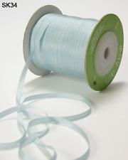 1/8 Inch Silk Ribbon - May Arts - Sk34 - Blue - 5 yards